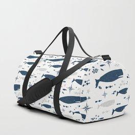 Sperm Whale #nautical #homedecor #coastal #whale Duffle Bag