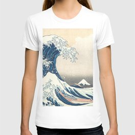 The Great Wave off Kanagawa by Katsushika Hokusai from the series Thirty-six Views of Mount Fuji T-shirt