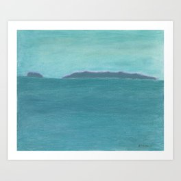Santa Barbara Islands Art Print