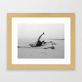 Beach Campfire Framed Art Print