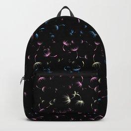 Dandelion Seeds Transgender Pride (black background) Backpack