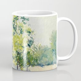 """Gustave Caillebotte """"Allée bordée d'arbres - Alley lined by trees"""" Coffee Mug"""
