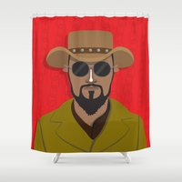 django Shower Curtains featuring Django by Mohac
