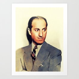 George Gershwin, Music Legend Art Print