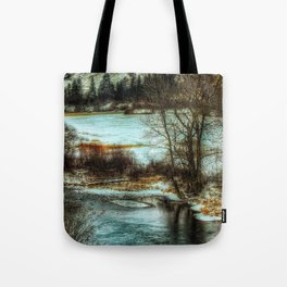 Down By The Waters Edge Tote Bag