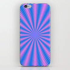 Pink and Blue Spiral Rays iPhone & iPod Skin