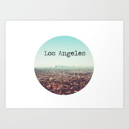 Los Angeles View Art Print