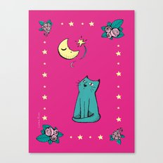 Pink cat Canvas Print