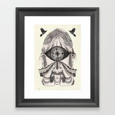 Thoughts Compass Framed Art Print