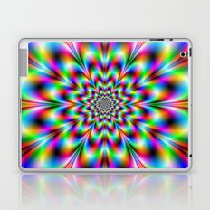 Neon Flower in Green Red and Blue Laptop & iPad Skin