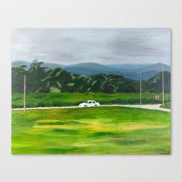 White Car Canvas Print