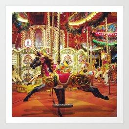 London: Carousel Art Print