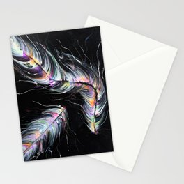 Neon Feathers Stationery Cards