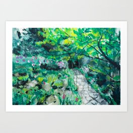 Reader Rock Garden Art Print