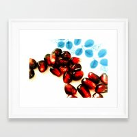pomegranate Framed Art Prints featuring Pomegranate by Yilan