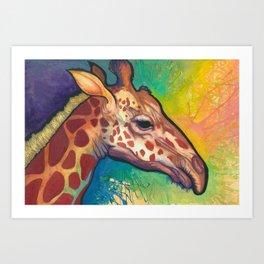Lucky Giraffe Spirit Art Print