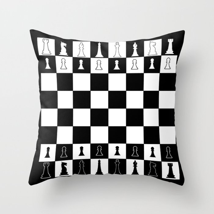 Chess Board Layout Throw Pillow by homestead