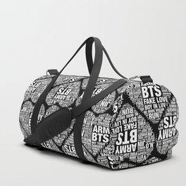 BTS ARMY Fan Art : Typography Duffle Bag