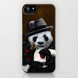 PANDA with Tuxedo iPhone Case