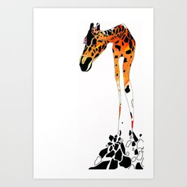 Phillip the French Giraffe Art Print