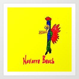 Navarre Beach Fish Art Print