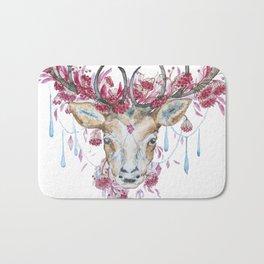 Watercolor Reindeer Bath Mat