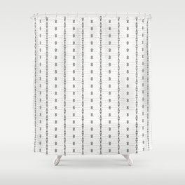 FRENCH LINEN STRIPE Shower Curtain