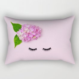 The Lady In The Flower Hat Rectangular Pillow