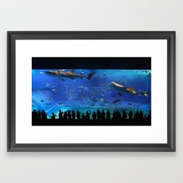 Chaurami Aquarium Whale Shark Tank Framed Art Print