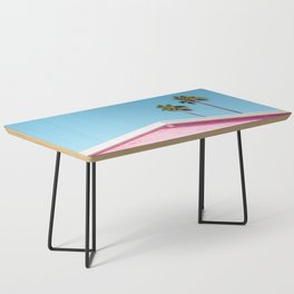 Pink House Roofline with Palm Trees (Palm Springs) Coffee Table