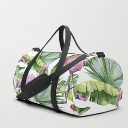 Flamingo Jungle #society6 #buyart Duffle Bag