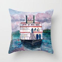 """Star of New York"" in Sheepshead Bay Brooklyn Throw Pillow"