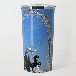 Boadicea supporting the London eye Travel Mug