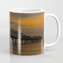 Paignton Pier Orange Sunrise Coffee Mug