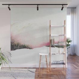 Fading mountains Wall Mural