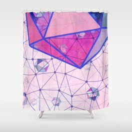 Icosahedron Geometric Shape Constellation Dream Shower Curtain