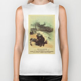 Vintage French drowned sailors charity advertising Biker Tank