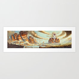 Temple of Spirit Art Print