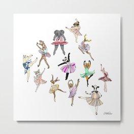 Animal Ballerinas Metal Print