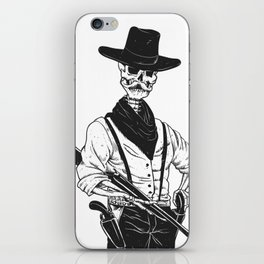 Sheriff with mustache and rifle iPhone Skin