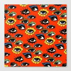 60s Eye Pattern Canvas Print