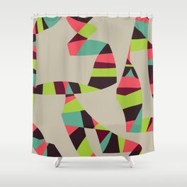 001 - TribalLines Shower Curtain