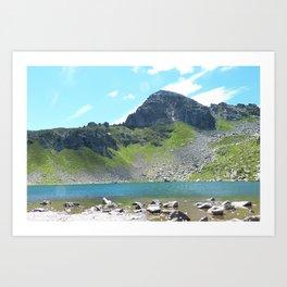 Mountain Stream Alpine landscape Art Print