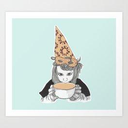 Birthday witch Art Print