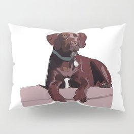 Labrador dog (chocolate) Pillow Sham