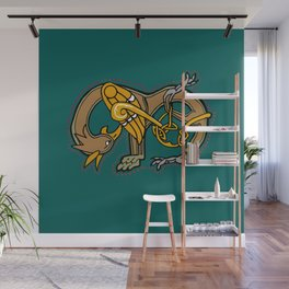 Celtic Medieval Griffin Letter M 201 Wall Mural