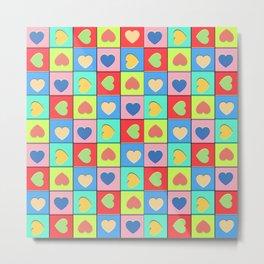 Heart Shaker Pattern Metal Print