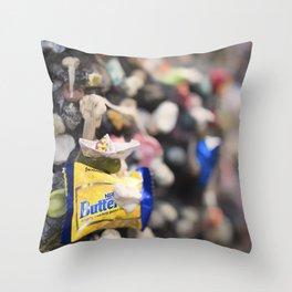 A Cool Gross Bubblegum Alley San Luis Obispo Throw Pillow