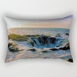 Sunset at Thor's Well Rectangular Pillow