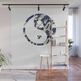 wall clock yin yang 2 Wall Mural